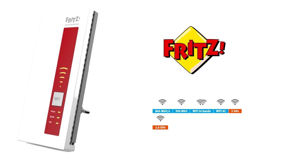 fritz wlan repeater 1160 un signal wifi puissant pour tous les appareils mobiles dans le. Black Bedroom Furniture Sets. Home Design Ideas