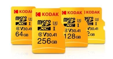 KODAK propose une carte micro SD XC de 256 Go pour 35€ (U3)